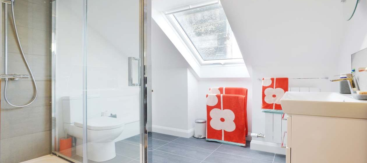 bathroom in loft extension