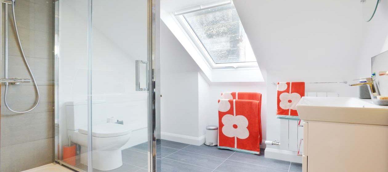 bathroom in loft extension
