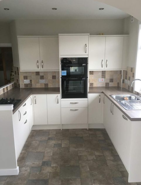 newly renovated kitchen in Edinburgh
