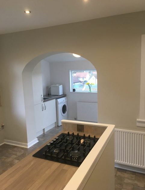 newly refurbished kitchen utility room