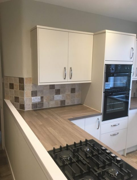 Built in appliance in renovated kitchen