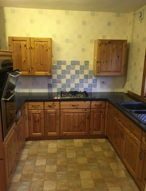 before kitchen renovation in Edinburgh