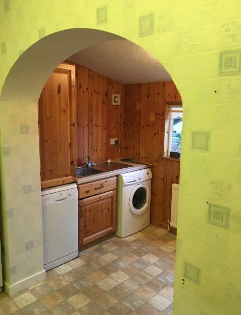 before utility and kitchen renovation in Edinburgh