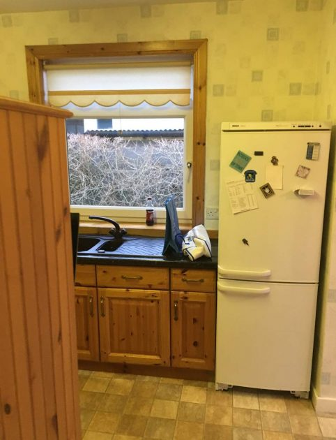 before new kitchen renovated in Edinburgh